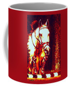 Horse Painting Jumper No Faults Deep Blues And Reds Coffee Mug