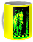 Horse Painting Jumper No Faults Green And Yellow Coffee Mug