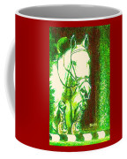 Horse Painting Jumper No Faults Green With Reds Coffee Mug