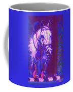 Horse Painting Jumper No Faults Purple And Blue Coffee Mug
