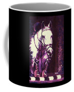 Horse Painting Jumper No Faults Purple Coffee Mug