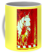 Horse Painting Jumper No Faults Red And White Coffee Mug