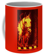 Horse Painting Jumper No Faults Reds Coffee Mug