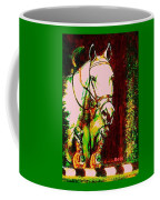 Horse Painting Jumper No Faults Reds Greens Coffee Mug
