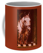 Horse Painting Jumper No Faults Soft Browns Coffee Mug