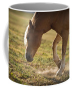 Horse Pawing In Pasture Coffee Mug by Steve Gadomski