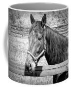 Horse Portrait In Black And White Coffee Mug