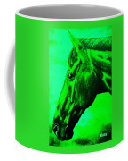 horse portrait PRINCETON green Coffee Mug