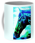 horse portrait PRINCETON really blue Coffee Mug