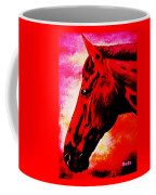 horse portrait PRINCETON red hot Coffee Mug