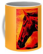horse portrait PRINCETON sunset Coffee Mug