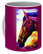 horse portrait PRINCETON wow purples Coffee Mug