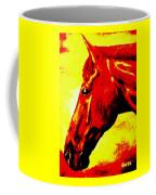 horse portrait PRINCETON yellow and red Coffee Mug