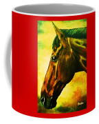 horse portrait PRINCETON yellow Coffee Mug