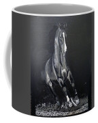 Horse Running Along The Shore Coffee Mug