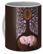 Horse Sleeps Below Tree Of Rebirth Coffee Mug by Carol  Law Conklin