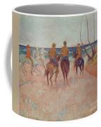 Horseman On The Beach Coffee Mug by Paul Gauguin