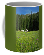 Horses Getting A Break Coffee Mug