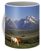 Horses Graze At Lost Creek Ranch Coffee Mug by Richard Nowitz
