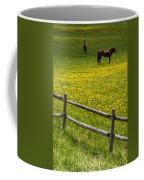 Horses In A Field Coffee Mug