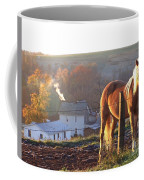 Horses In Autumn Frosty Sunrise Coffee Mug