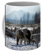 Horses In Front Of Quaggy Jo Coffee Mug