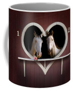 Horses In Stable Coffee Mug