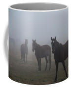 Horses In The Fog Coffee Mug