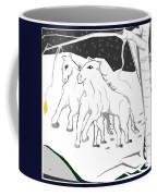 Horses On A Snowy Evening Coffee Mug