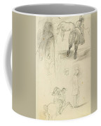 Horses Riders And A Young Man Coffee Mug