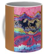 Horses Running Thru A Stream Coffee Mug by Carol  Law Conklin