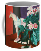 Horses With Floral Coffee Mug