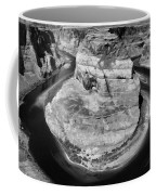 Horseshoe Bend Black White  Coffee Mug