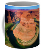 Horseshoe Bend Filters Paint  Coffee Mug