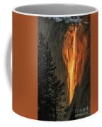 Horsetail Falls In Yosemite National Park Coffee Mug