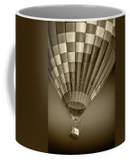 Hot Air Balloon And Bucket In Sepia Tone Coffee Mug