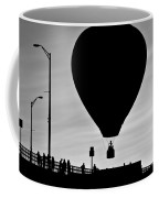 Hot Air Balloon Bridge Crossing Coffee Mug