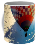 Hot Air Balloon Eclipsing The Sun Coffee Mug