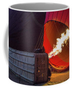 Hot Air Balloon. Inflation. Coffee Mug