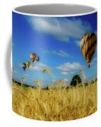 Hot Air Balloons Over A Wheat Field Coffee Mug