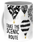 Hot Air Balloons Scenic Route- Art By Linda Woods Coffee Mug