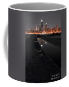 Chicago Hot City At Night Coffee Mug