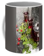 Hot Rosehip Tea In Glass Coffee Mug