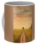 House At The End Of A Track In A Poppy Field Coffee Mug