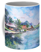 House By The Lagoon In French Polynesia Coffee Mug
