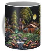 House In Night At Beautiful Site Coffee Mug