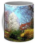 House On The Hill In Spring Coffee Mug