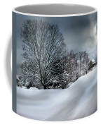House On The Hill Winters In Vermont Coffee Mug
