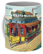 House On Wheels, 1900s French Postcard Coffee Mug