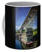 Houseboat And Aurora Bridge Seattle Coffee Mug